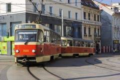 Tram in Bratislava in Slovakia Stock Image