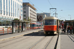 Tram in Bratislava, Slovakia Royalty Free Stock Images