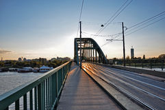 Tram bridge Royalty Free Stock Images