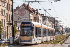 Tram in Brussels, Belgium Royalty Free Stock Image