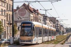 Tram in Brussels, Belgium Royalty Free Stock Image