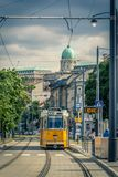 Tram in Budapest, Hungary, Europe stock photo