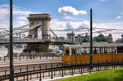 Tram in Budapest royalty free stock photos