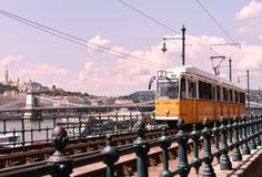 Tram, Budapest, Hungary Pest side 2018 stock images