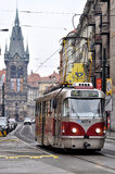 Tram in Prague Royalty Free Stock Image