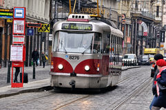 Tram in Budapest Stock Photo
