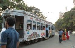 Tram in Calcutta Stock Photo