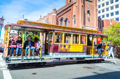 Tram in California. Tram in the city, California,USA Royalty Free Stock Photo