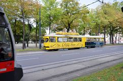 Tram cars in Vienna Royalty Free Stock Images