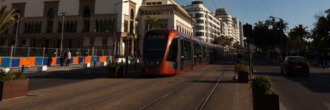 Tram in Casablanca lizenzfreie stockfotografie