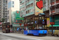 Tram, Central, Hongkong Royalty Free Stock Images