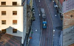 Tram in città Immagini Stock