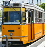 Tram in the city of Budapest, Hungary Stock Photography