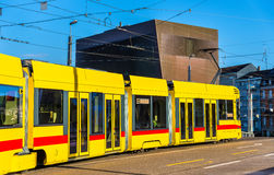 Tram in the city centre of Basel Royalty Free Stock Photos