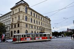 Tram in the city of Prague Royalty Free Stock Image