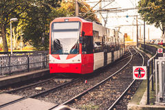 Tram in city Royalty Free Stock Photography