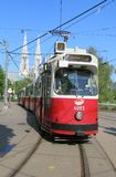 Tram in the city of Vienna Stock Images