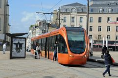 Tram in the city Stock Photography