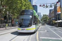 Tram in Collins Street Melbourne, Australië Royalty-vrije Stock Foto