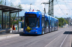 Tram comes to CERN Royalty Free Stock Images