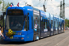 Tram comes to CERN Stock Photos