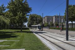 Tram In Le Havre, France. Royalty Free Stock Photos
