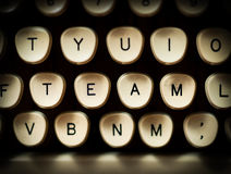 Team concept. On old typewriter Royalty Free Stock Photography