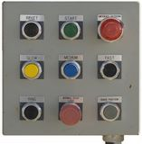 Tram control panel. Ski tram button control panel, isolated view Royalty Free Stock Photo