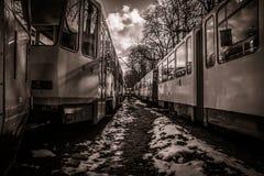 Tram corridor Royalty Free Stock Image