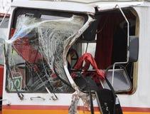 Tram Crash Stock Photo