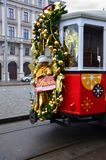Tram décoré, Vienne Image stock