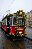 Tram décoré, Vienne Images libres de droits