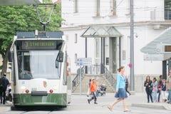 Tram d'Augsbourg Photo libre de droits