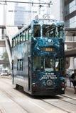 Tram d'autobus à impériale Photographie stock