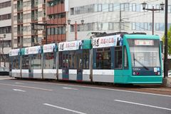 Tram d'Hiroshima Photo stock