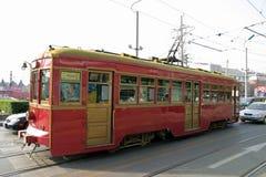 Tram at Dalian station Stock Image
