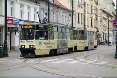 Tram dans Bydgoszcz Images libres de droits