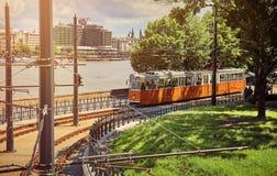 Tram dans estival urbain de Budapest Hongrie de ville photo stock