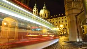Tram dans la partie historique de Prague, République Tchèque Images libres de droits