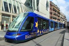 Tram dans Strasboug Image stock