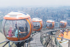 Tram de bulle de tour de canton, Guangzhou Photos libres de droits