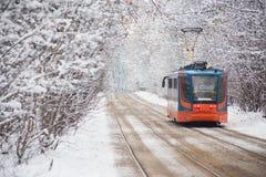 Tram de la Russie sur le parc Photographie stock