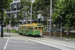 Tram de touristes 35 à Melbourne en Australie photo libre de droits