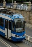 Tram de ville Photographie stock