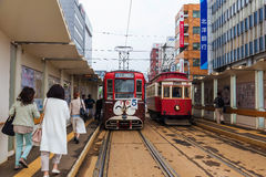 Tram de ville de Hakodate Image stock