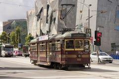 Tram del cerchio della città Immagine Stock