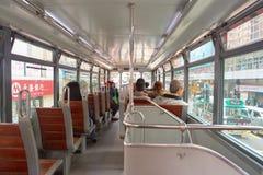 Tram dell'autobus a due piani Immagini Stock