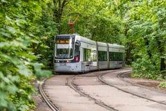 Tram della città a Mosca Immagini Stock Libere da Diritti