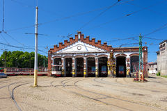 Tram depot Royalty Free Stock Images