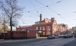 Tram depot behalf of Apakova, opened August 4, 1909. , Moscow, Russia Stock Photo